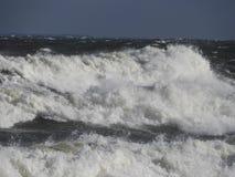 Slut upp på kust- vawe Royaltyfri Foto