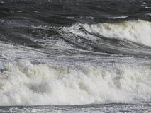 Slut upp på kust- vawe royaltyfri fotografi