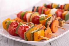 Grönsakkebab Arkivfoton