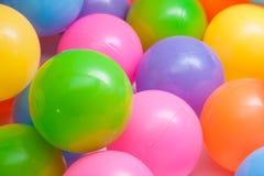Slut upp plast- bollar Royaltyfri Fotografi