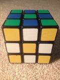 Slut upp Rubiks kub Arkivbilder