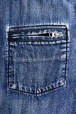 Slut upp sönderriven textur för jeansgrov bomullstvillfack Royaltyfri Foto
