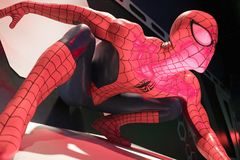 Slut upp Spiderman Arkivbild