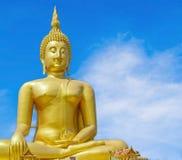 Slut upp stor Buddha av Thailand Arkivfoton