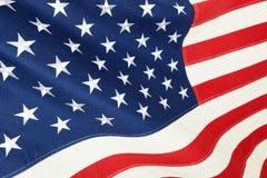 Slut upp studioskott av bomullsflaggan - Amerikas förenta stater Royaltyfri Bild
