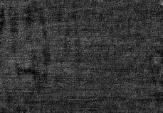 Slut upp svartvit grov bomullstvilltextur med tomt kopieringsutrymme royaltyfria bilder