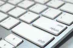 Slut upp tangentbordet av en dator royaltyfria foton