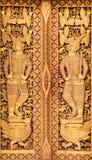 Slut upp thailändska sned dörrar Arkivfoto