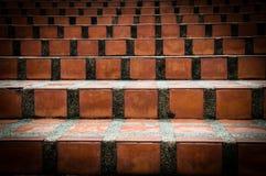 Slut upp trappa för keramiska tegelplattor Bakgrund, Royaltyfri Foto