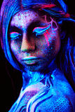 Slut upp UV ståenden Arkivbild