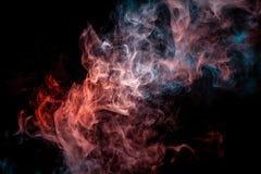 Slut upp virvlande runt rök på svart isolerad bakgrund vektor illustrationer