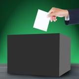 Sluten omröstning och ask Arkivfoto