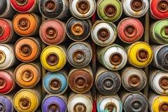 Slutet använde upp sprutmålningsfärg på burk arkivbilder