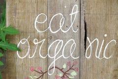 Slutet av ordet äter upp det organiska tecknet Royaltyfri Bild