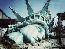 Slutet av världen Apokalyptisk vision av den framtida världen stock illustrationer
