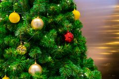 Slutet för jul Tree arkivbild