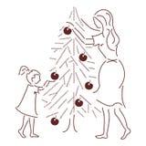 Slutet för jul Tree Arkivfoton