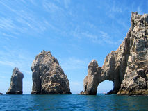Slutet för Los Arcos eller lands är en populär turist- dragning på Cabo San Lucas i Mexico Royaltyfria Bilder
