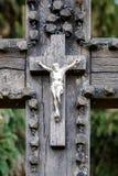 Slutet sköt upp av ett kors fotografering för bildbyråer
