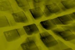 Slutet specificerar upp av en dator skrivar Arkivfoto