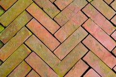 Slutet texturerar upp av tegelsten Arkivfoton