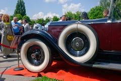 Slutet upp av den Packard singeln åtta 143 - lagerföra bilden Arkivfoton