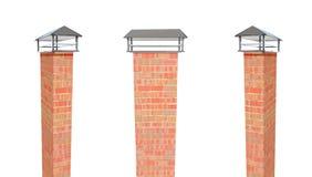 Slutet upp lampglaset på taket 3d framför stock illustrationer