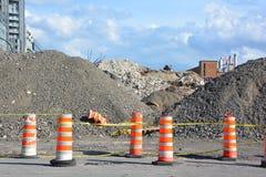 Slutfasen av rivningen av Bonaventure Expressway Arkivfoton