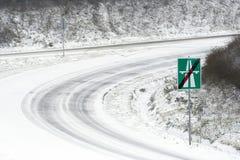sluthuvudväg Arkivbild