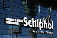 Slutlig Amsterdam Schiphol flygplats Royaltyfri Bild