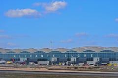 Slutlig byggnad för Alicante Elche flygplats arkivfoton