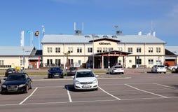 Slutlig byggnad för Karlstad flygplats Royaltyfria Foton