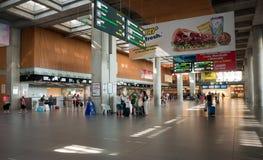 Slutlig Dalaman för avvikelse flygplats i Turkiet royaltyfria bilder