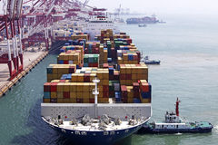 Slutlig Kina Qingdao portbehållare Arkivfoto