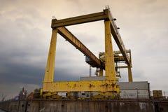 Port av Hamburg royaltyfri fotografi