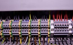 Slutligt kvarter för industriellt elektroniskt Slutligt kvarter Industriellt maktfall Arkivbild