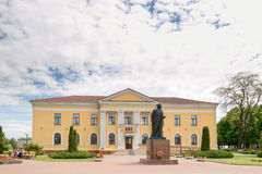 SLUTSK, BIELORRÚSSIA - 20 de maio de 2017: Casa da faculdade criadora do ` s das crianças no centro de Slutsk Foto de Stock Royalty Free