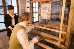 SLUTSK, BIELORUSSIA - 20 maggio 2017: Museo della storia delle cinghie di Slutsk Fotografia Stock