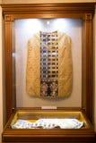 SLUTSK VITRYSSLAND - Maj 20, 2017: Museum av historien av de Slutsk bältena Royaltyfria Bilder