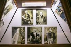 SLUTSK VITRYSSLAND - Maj 20, 2017: Museum av historien av de Slutsk bältena Royaltyfri Bild