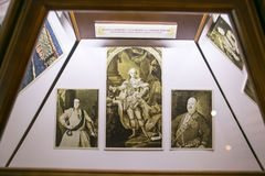 SLUTSK VITRYSSLAND - Maj 20, 2017: Museum av historien av de Slutsk bältena Royaltyfri Fotografi