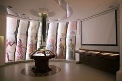 SLUTSK VITRYSSLAND - Maj 20, 2017: Museum av historien av de Slutsk bältena Royaltyfri Foto