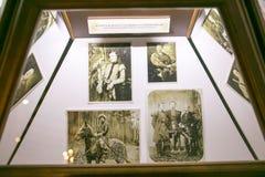 SLUTSK VITRYSSLAND - Maj 20, 2017: Museum av historien av de Slutsk bältena Fotografering för Bildbyråer