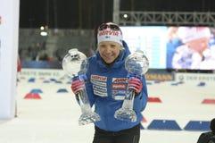 Slutskede IX av Biathlonvärldscupen IBU BMW 25 03 2018 Royaltyfri Bild