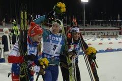 Slutskede IX av Biathlonvärldscupen IBU BMW 25 03 2018 Fotografering för Bildbyråer