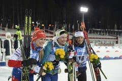 Slutskede IX av Biathlonvärldscupen IBU BMW 25 03 2018 Royaltyfri Fotografi