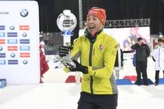 Slutskede IX av Biathlonvärldscupen IBU BMW 24 03 2018 Royaltyfria Foton