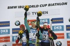 Slutskede IX av Biathlonvärldscupen IBU BMW 24 03 2018 Arkivbild