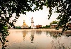 slutta tornet Nevyansk Fotografering för Bildbyråer