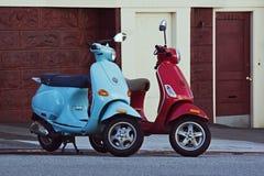 sluttande francisco motorbikessan gata två Royaltyfri Bild
